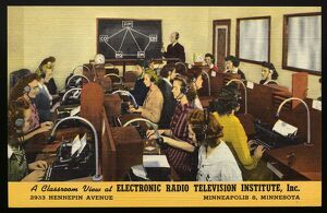 Classroom at Electronic Radio Television Institute. ca. 1944, Minneapolis, Minnesota