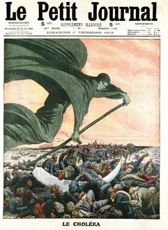 Death, the grim reaper. Turkish army defeated by Cholera, not by enemy, approaching