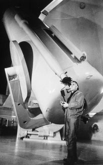 Edwin Powell Hubble (1899-1953) American astronomer who discovered 'red shift&#39