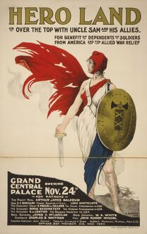 French Hero Land Poster