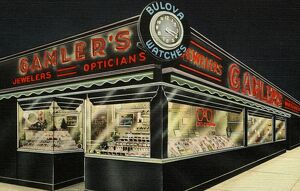 Gamler's Jewelers and Opticians. ca. 1947, Rochester, New York, USA, GAMLER'S