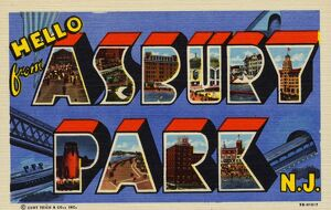 Greeting Card from Asbury Park, New Jersey. ca. 1945, Asbury Park, New Jersey, USA