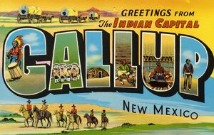 Greeting Card from New Mexico. ca. 1958, Gallup, New Mexico, USA, K-485