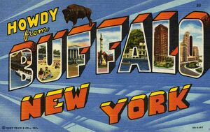 Greeting Card from New York. ca. 1949, Buffalo, New York, USA, Greeting Card from New York