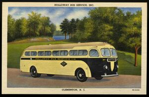 Holloway Bus Service. ca. 1949, Clementon, New Jersey, USA, HOLLOWAY BUS SERVICE, INC