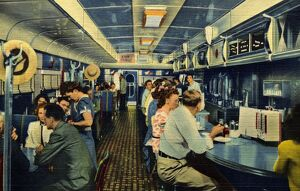 Inside the Willow Grove Diner. ca. 1948, Willow Grove, Pennsylvania, USA, THE WILLOW GROVE DINER