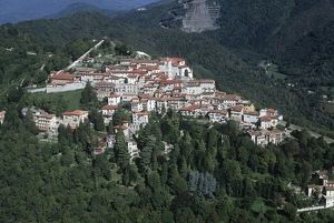 Italy, Lombardy, Varese, Sacro Monte, Aerial view