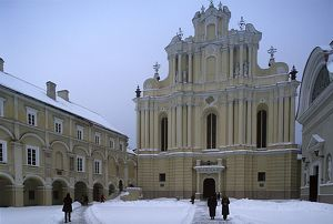 Lithuania, Vilnius, old town, University, Universitas, 16th-20th century, inner courtyard, St