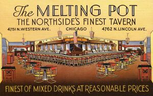 Melting Pot Tavern in Chicago. ca. 1946, Chicago, Illinois, USA, THE MELTING POT