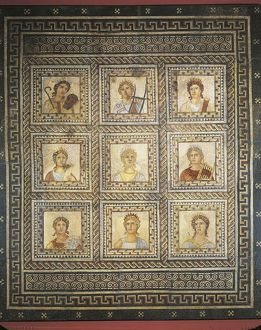 Mosaic of Nine Muses, from Augusta Treverorum (Trier)