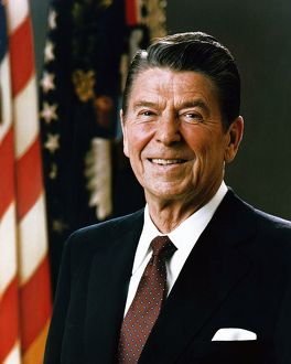 Official Portrait of President Ronald Reagan, 1981. Ronald Wilson Reagan (February 6