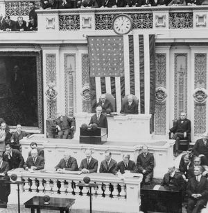 President Coolidge delivering his first message to Congress