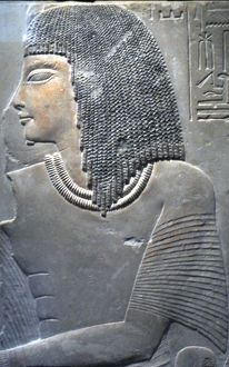 Relief of Imenmes and Dejat, Parents of General Imeneminet, from a Tomb in Memphis