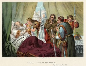 Shakespeare King Lear first performed c1605 Lear, betrayed by his daughters Goneril