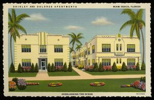 Shirley and Dolores Apartments. ca. 1938, Miami Beach, Florida, USA, SHIRLEY AND DOLORES APARTMENTS