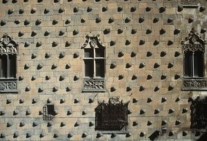 Spain, Castile and Leon, Salamanca, facade of House of Shells