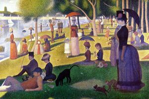 Sunday Afternoon on la Grande Jatte' 1884. Oil on canvas. by Georges Seurat