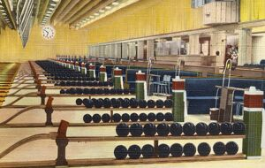 Sunset Bowling Center. ca. 1945, Hollywood, Los Angeles, California, USA, Hollywood, CA