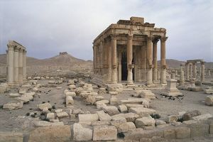 Syria, Homs Governorate, Palmyra District, Palmyra, Temple of Baal Shamen