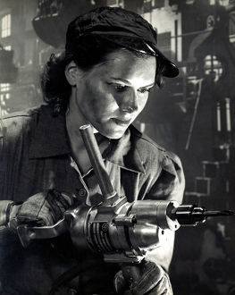 WWII female defense factory worker